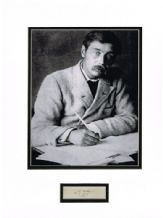 HG Wells Autograph Signed